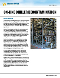 chiller decontamination, chiller Poe conversion, chiller dehydration, chiller oil reduction, oil logged chiller, chiller decontamination service, emergency chiller service