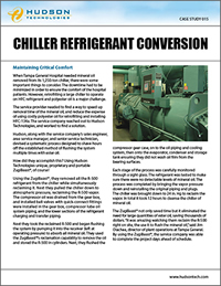 chiller service, chiller refrigerant conversion, chiller POE conversion