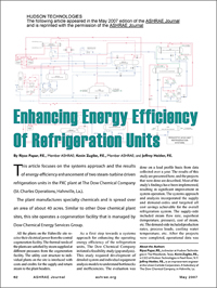 Steam-turbine driven refrigeration units, Refrigeration units, Chemical plant case study refrigeration, DOW Chemical PXC plant, Refrigeration Energy Efficiency, DOW Chemical St. Charles, Refrigeration systems energy efficiency, Refrigeration system gap analysis, Refrigeration system feasibility analysis, Refrigeration system load profile, Refrigerant decontamination procedure, Case study refrigeration system, Case study chemical plant energy, Six sigma chemical plant, Six sigma energy management, Thermodynamic system model, MAIC six sigma, MAIC (measure, analyze, improve and control), Refrigeration system optimization, Chemical plant energy optimization