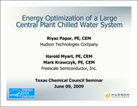 Semiconductor plant energy efficiency, Chilled water system energy efficiency, Energy Optimization Central Plant Chilled Water System, Energy Saving Assessment, Chiller Best Practices, Chiller Load Profile, Chiller System Energy Savings Opportunity, Chiller System Energy Assessment, Chiller System Instrumentation Monitoring