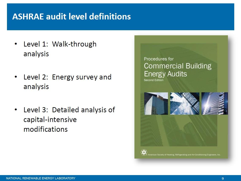 ASHRAE Audit Level Definitions