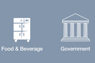 Food & Beverage and Government