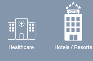 Healthcare and Hotels & Resorts